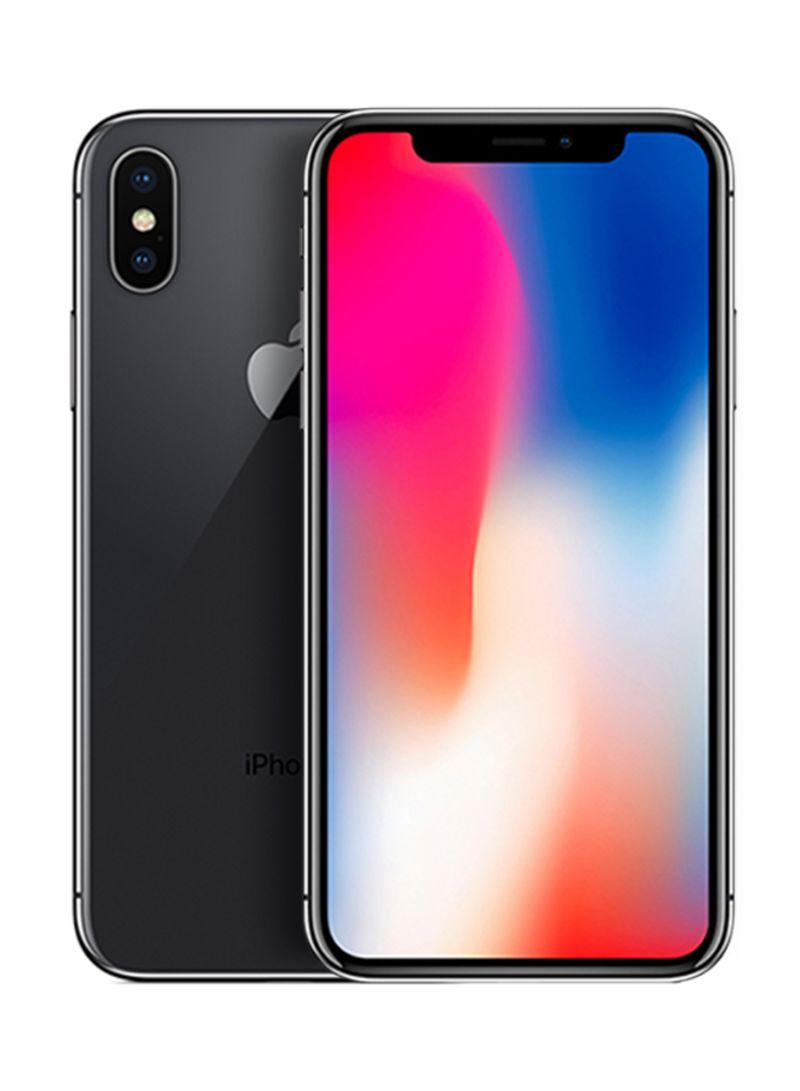هاتف آيفون X مع تطبيق فيس تايم لون رمادي فلكي بذاكرة داخلية سعة 256 جيجابايت ومزود بتقنية 4G LTE