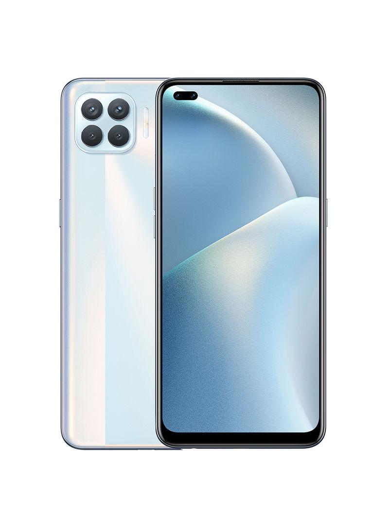 هاتف A93 أبيض ميتاليك ثنائي الشريحة بذاكرة رام 8 جيجابايت وذاكرة داخلية سعة 128 جيجابايت يدعم تقنية 4G LTE