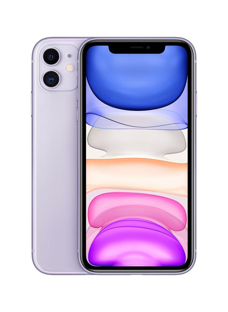 آيفون 11 ثنائي الشريحة بخاصية فايس تايم سعة 64 جيجابايت يدعم تقنية 4G LTE لون أرجواني - مواصفات هونغ كونغ