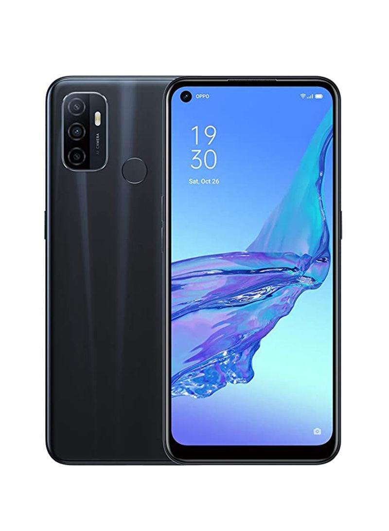 هاتف A53 ثنائي الشريحة بذاكرة رام 4 جيجابايت وسعة داخلية 64 جيجابايت ويدعم تقنية 4G LTE - أسود إلكتريك