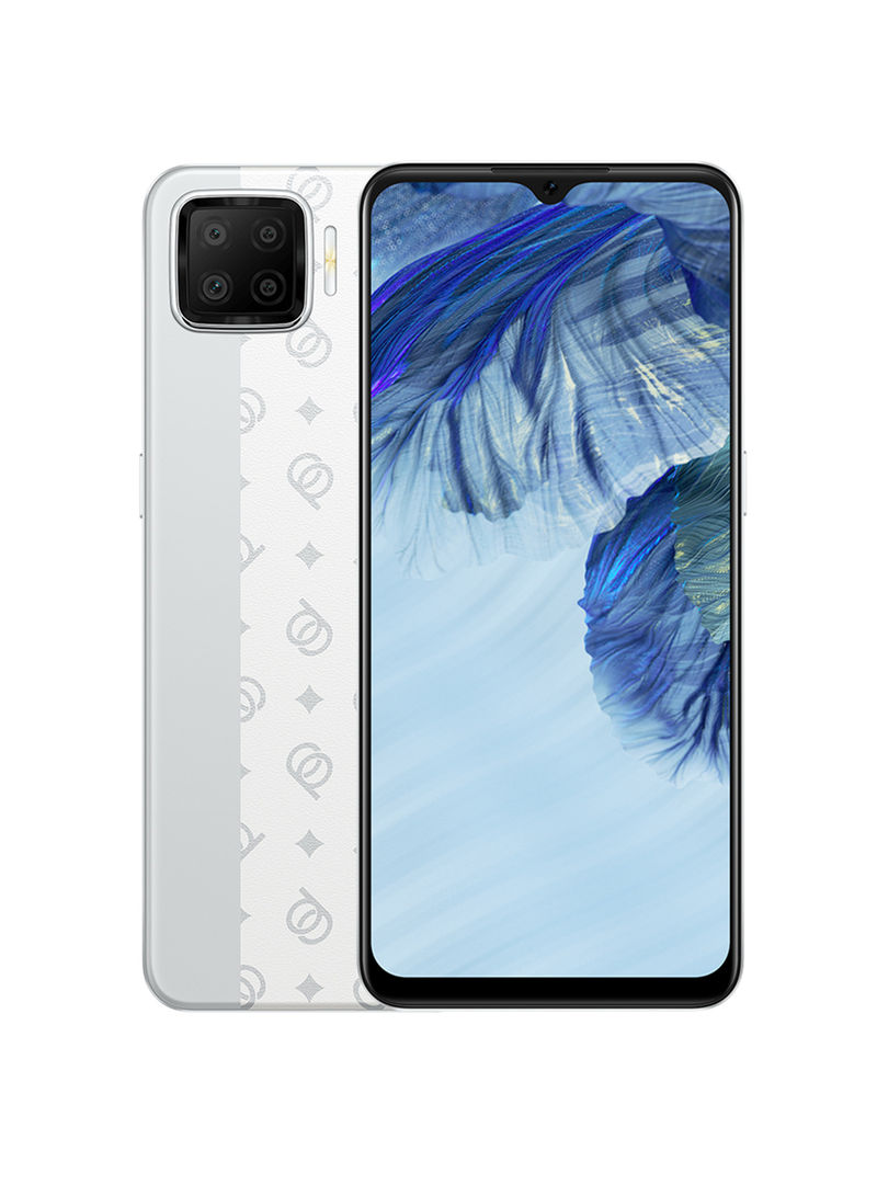 هاتف A73 ثنائي الشريحة بذاكرة داخلية سعة 128 جيجابايت وذاكرة رام سعة 6 جيجابايت ويدعم تقنية 4G LTE بلون فضي كلاسيك
