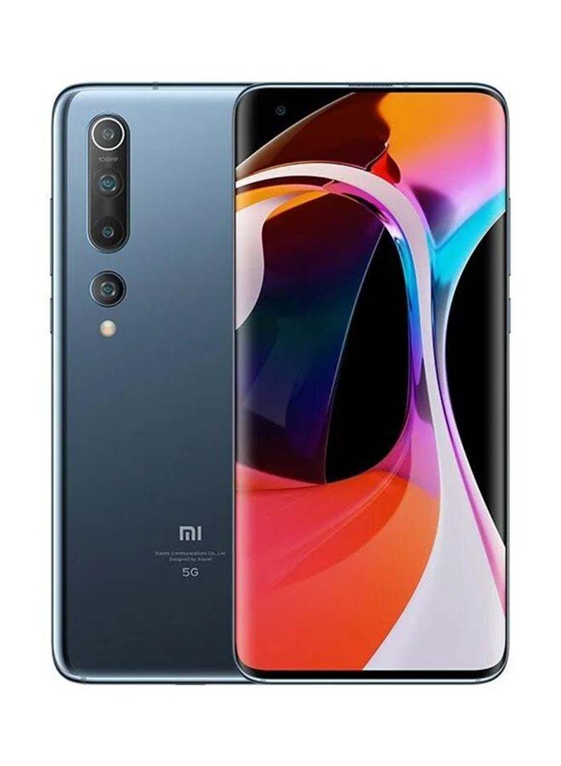 هاتف مي 10 بذاكرة رام سعة 8 جيجابايت وذاكرة داخلية سعة 256 جيجابايت ويدعم تقنية 5G، لون رمادي توايلات