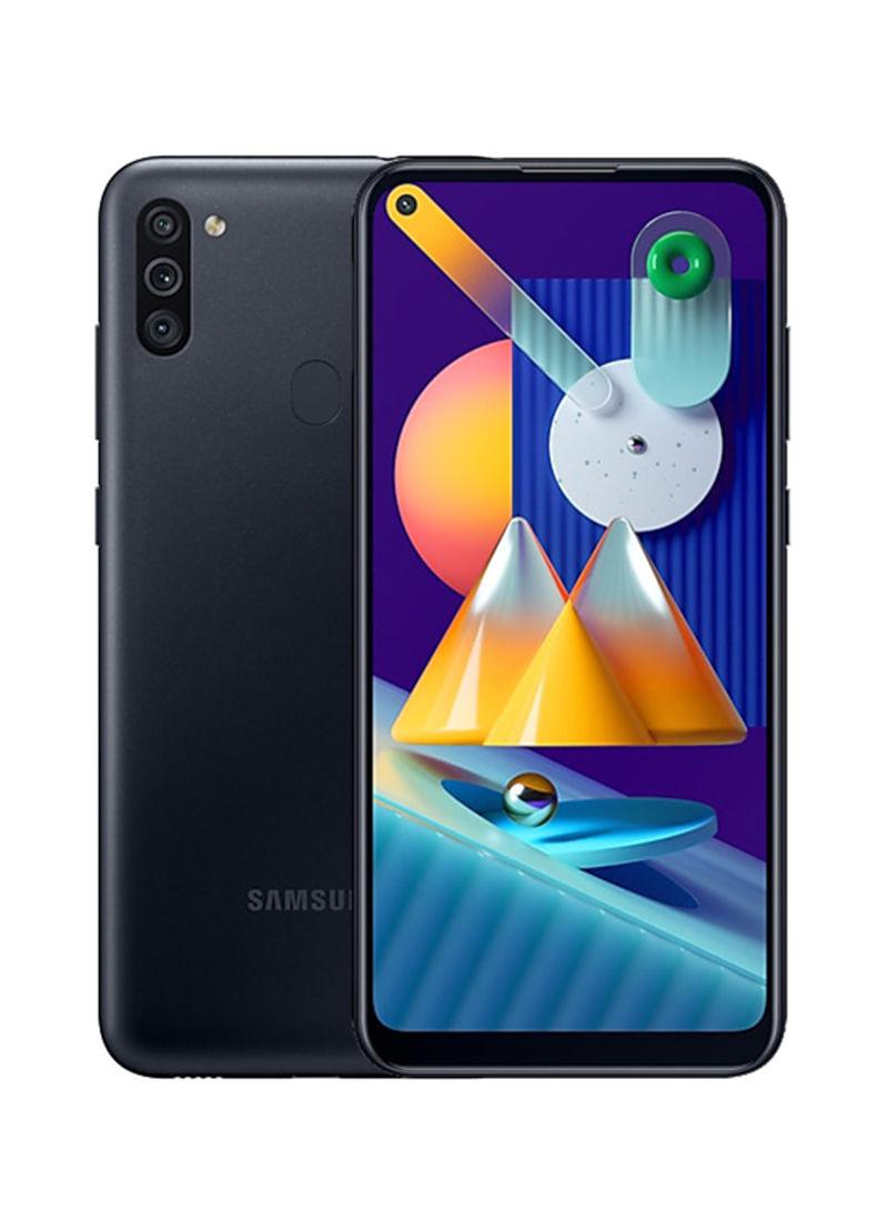 هاتف جالاكسي M11 بشريحيتن بلون أسود بذاكرة رام 3 جيجابايت وذاكرة داخلية سعة 32 جيجابايت ويدعم تقنية 4G LTE