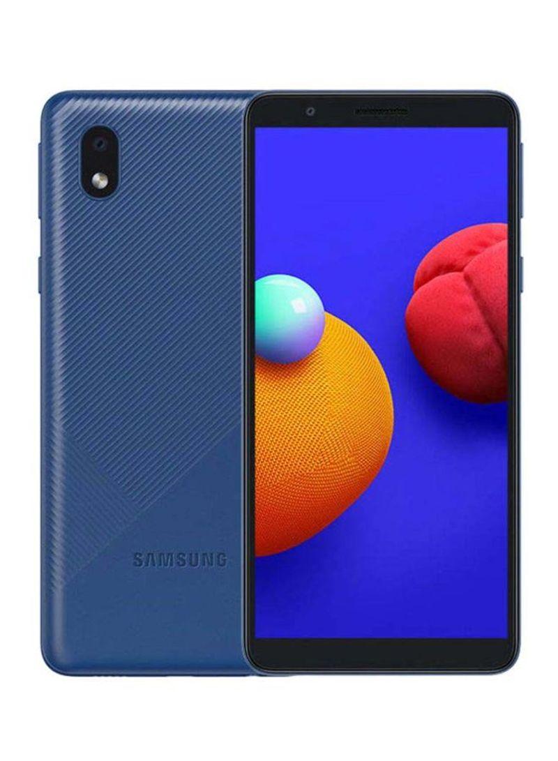 هاتف جالاكسي A01 كور بشريحتين وبلون أزرق وذاكرة رام 1 جيجابايت وذاكرة داخلية سعة 16 جيجابايت ويدعم تقنية 4G LTE
