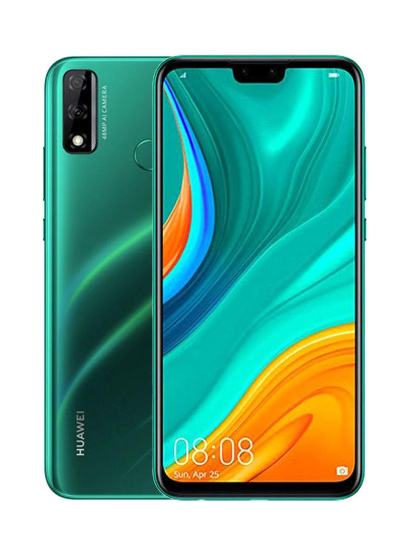 هاتف Y8S بشريحتين بلون أخضر زمردي وذاكرة رام 4 جيجابايت وذاكرة داخلية سعة 64 جيجابايت ويدعم تقنية 4G LTE