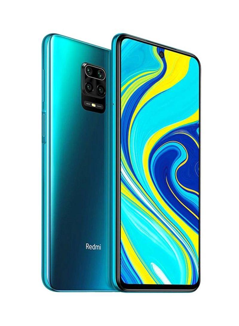 هاتف ريدمي نوت 9 برو بمواصفات عالمية بشريحتي اتصال، بذاكرة داخلية سعة 64 جيجابايت وذاكرة رام سعة 6 جيجابايت ويدعم تقنية 4G LTE، لون أخضر تروبيكال