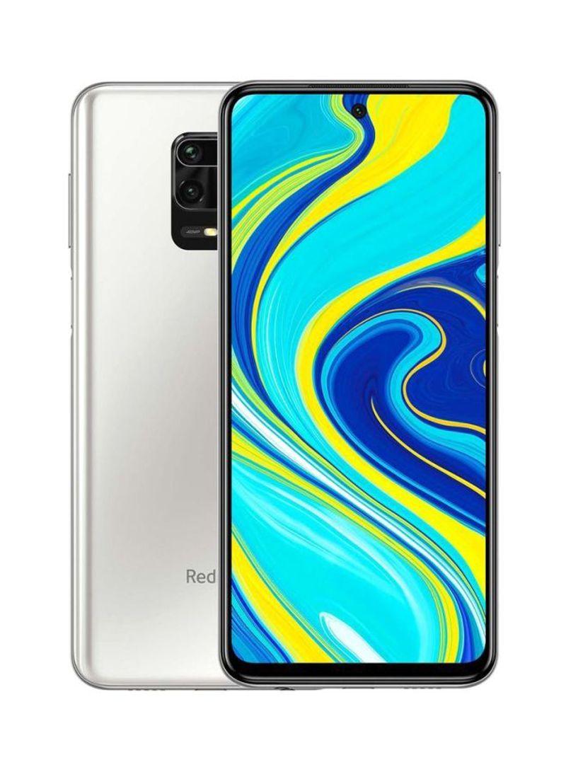 هاتف ريدمي نوت 9S بشريحتي اتصال وذاكرة رام سعة 4 جيجابايت وذاكرة داخلية سعة 64 جيجابايت ويدعم تقنية 4G LTE، لون أبيض