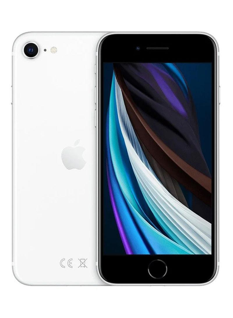 آيفون SE 2020 (الجيل الثاني) مع تطبيق فيس تايم بلون أبيض وذاكرة داخلية سعة 64 جيجابايت ويدعم تقنية 4G LTE - النسخة العالمية