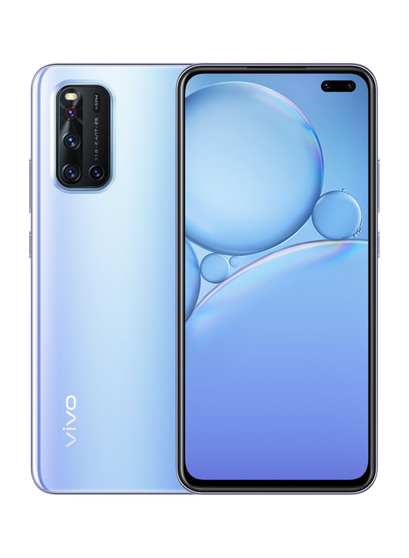 هاتف V19 ثنائي الشريحة بذاكرة رام سعة 8 جيجابايت وذاكرة داخلية سعة 128 جيجابايت ,يدعم تقنية 4G LTE، لون فضي سليك