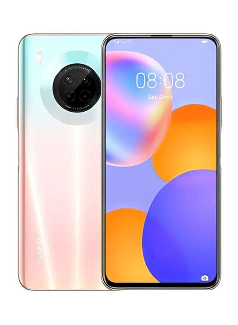 هاتف Y9A ثنائي الشريحة مزود بذاكرة رام سعة 8 جيجابايت وذاكرة داخلية سعة 128 جيجابايت ويدعم تقنية 4G LTE، لون وردي ساكورا