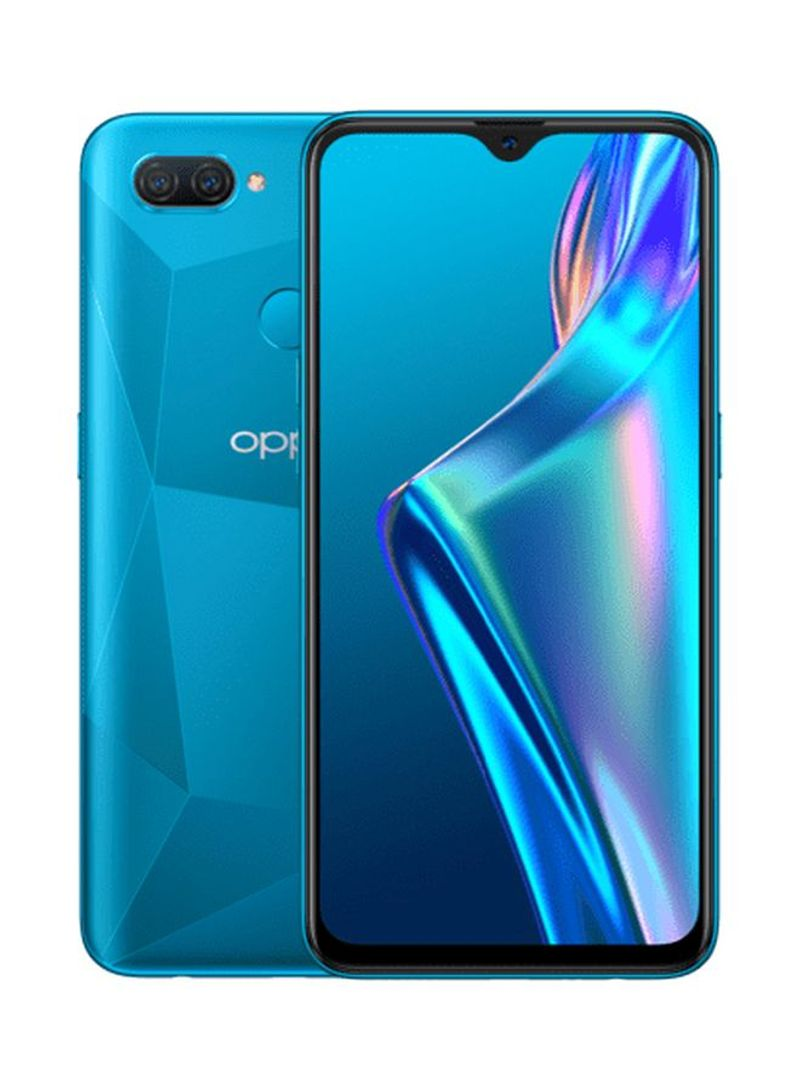 هاتف A12 ثنائي الشريحة، بذاكرة داخلية 32 جيجابايت وذاكرة رام 3 جيجابايت، يدعم تقنية LTE لون أزرق