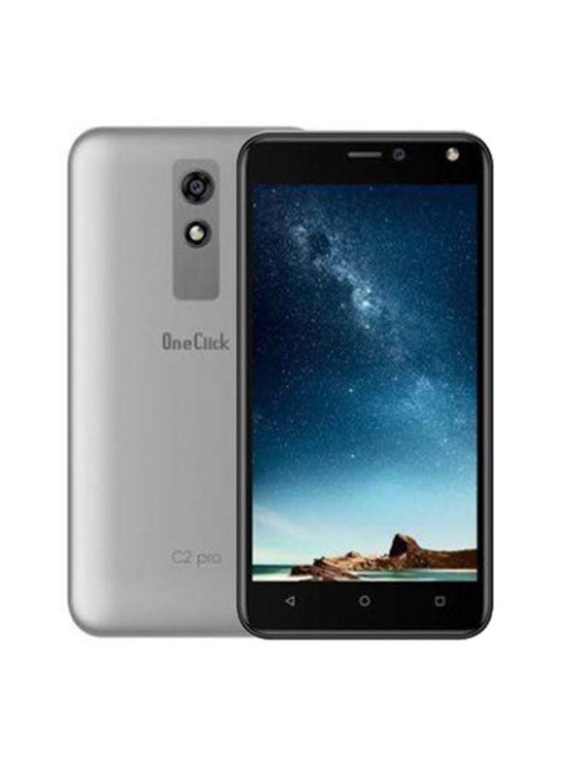 هاتف C2 برو ثنائي الشريحة بذاكرة داخلية سعة 8 جيجابايت وذاكرة رام سعة 1 جيجابايت ويدعم تقنية 3G - بلون فضي