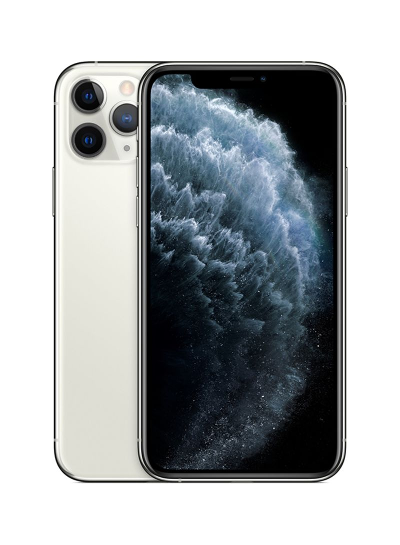 آيفون 11 برو ماكس بشريحتين وبخاصية فيس تايم لون فضي سعة 256 جيجابايت ويدعم تقنية 4G LTE - مواصفات هونج كونج