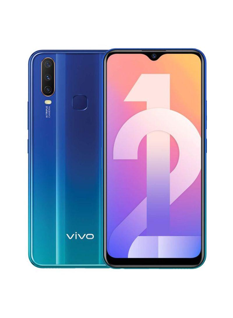 موبايل Y12 بشريحتين لون أزرق أكوا بذاكرة رام 3 جيجابايت وذاكرة داخلية 64 جيجابايت ويدعم تقنية 4G LTE