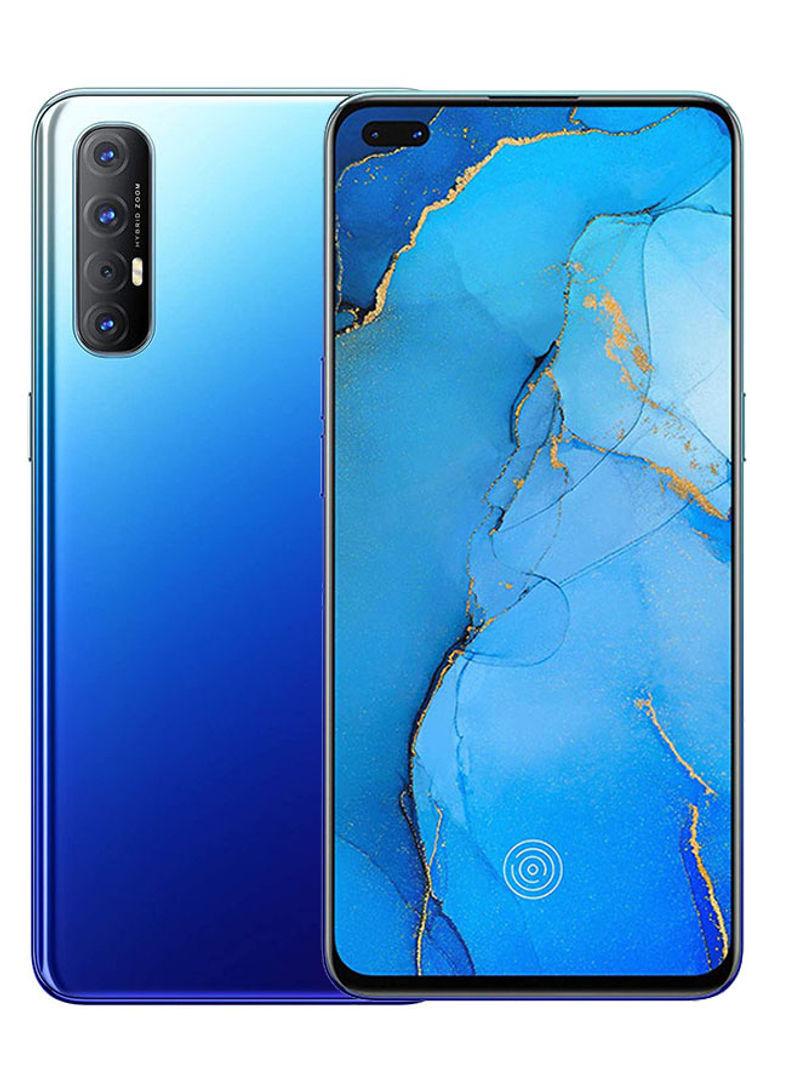 هاتف رينو 3 برو ثنائي الشريحة وذاكرة رام 8 جيجابايت وذاكرة 256 جيجابايت ويعمل بتقنية 4G LTE، لون أزرق شفقي
