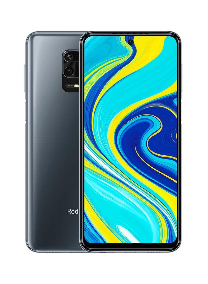 هاتف ريدمي نوت 9S بشريحتين ومزود بذاكرة رام سعة 4 جيجابايت وذاكرة داخلية سعة 64 جيجابايت ويدعم تقنية 4G LTE، لون رمادي