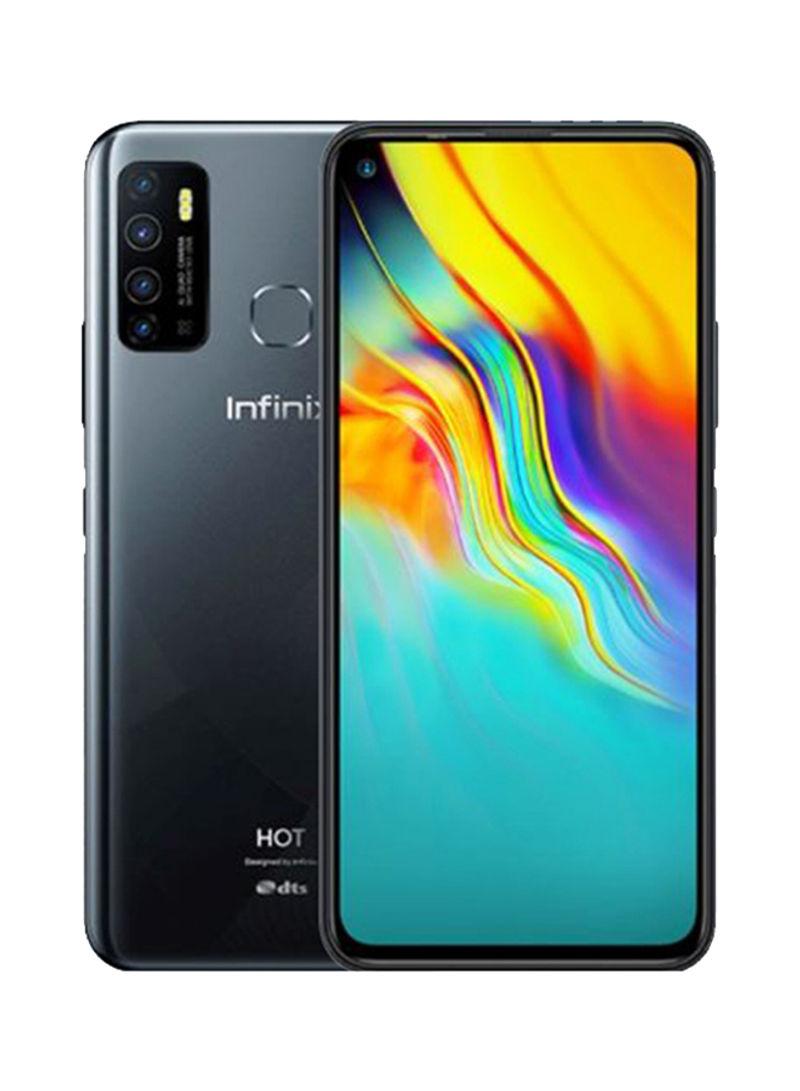 هاتف هوت 9 ثنائي الشريحة بذاكرة رام سعة 4 جيجابايت وذاكرة تخزين داخلية بسعة 64 جيجابايت يدعم تقنية 4G LTE لون أسود ميدنايت