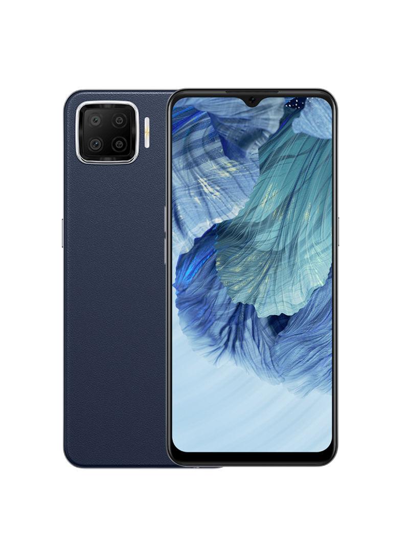 هاتف A73 ثنائي الشريحة بذاكرة رام سعة 6 جيجابايت وذاكرة داخلية سعة 128 جيجابايت يدعم تقنية 4G بلون كحلي