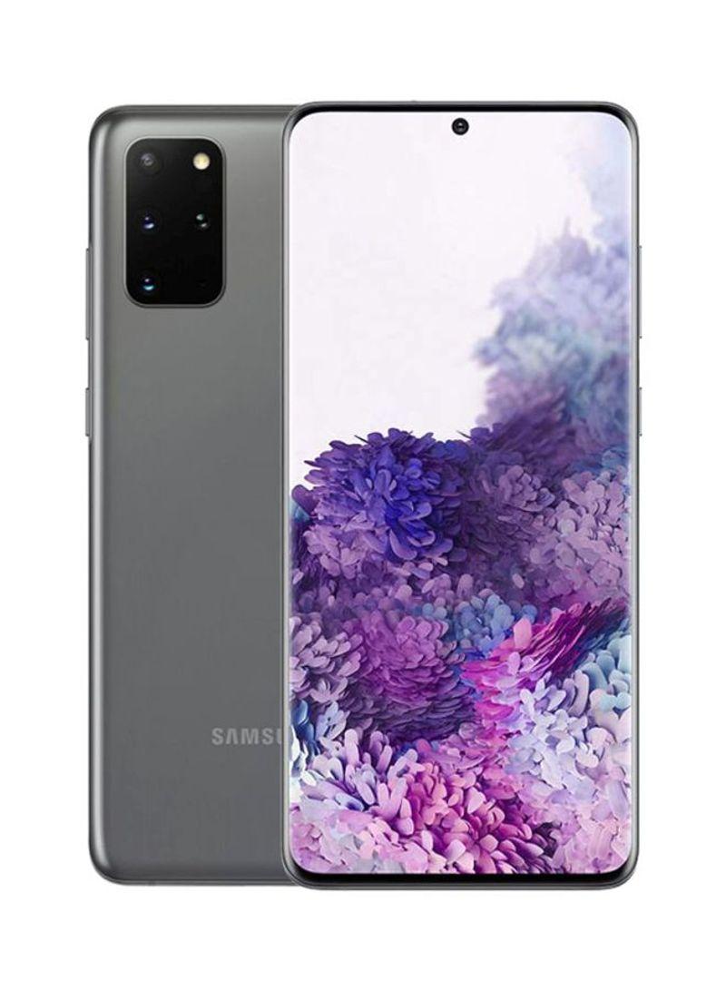 هاتف جالاكسي S20 بلس ثنائي الشريحة لون رمادي كوزميك بذاكرة رام سعة 8 جيجابايت وذاكرة داخلية سعة 128 جيجابايت ومزود بتقنية 4G LTE - نسخة عالمية