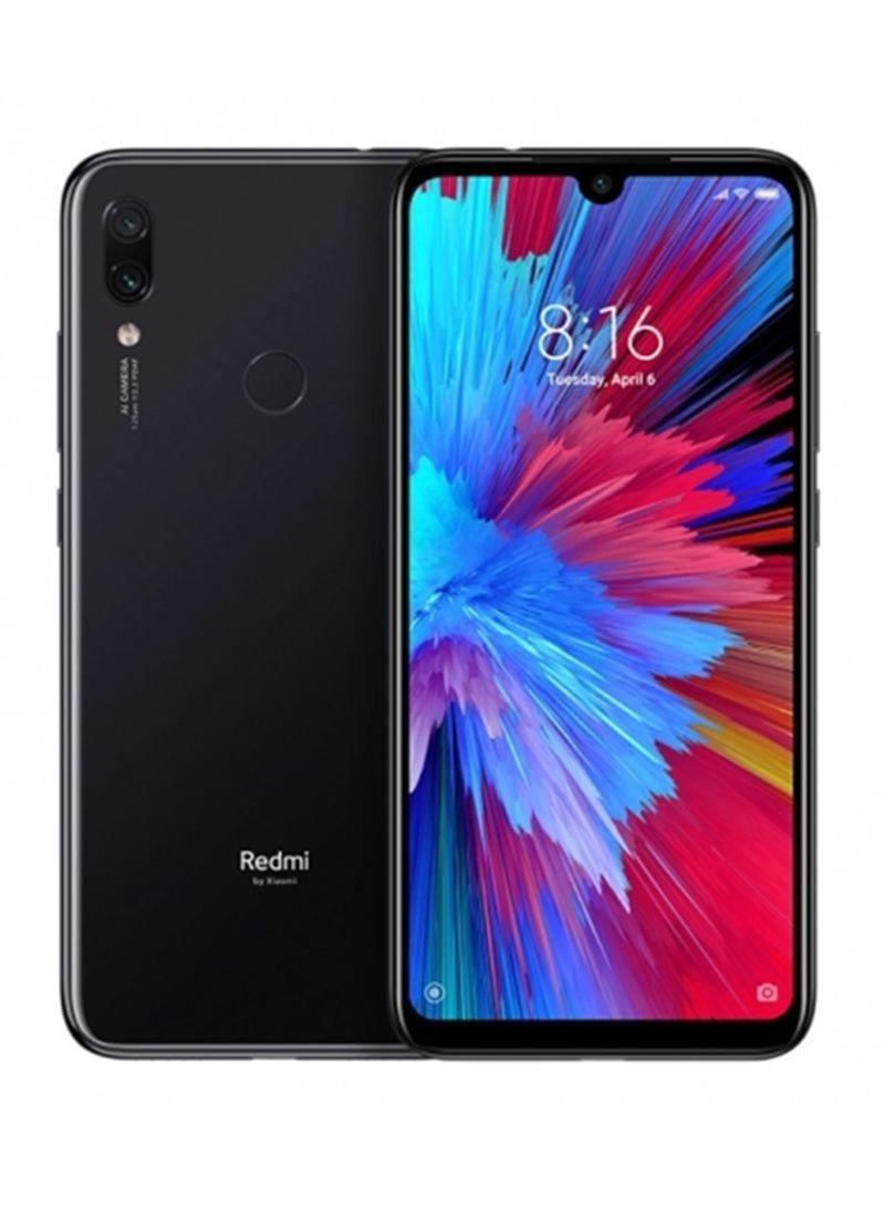 هاتف ريدمي 7 ثنائي الشريحة لون أسود إيكلبس بذاكرة داخلية سعة 64 جيجابايت وذاكرة رام سعة 3 جيجابايت ويدعم تقنية 4G LTE