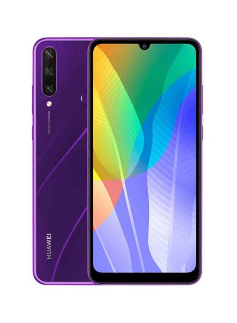 هاتف Y6P بشريحيتن بلون أرجواني فانتوم وذاكرة رام 3 جيجابايت وذاكرة داخلية سعة 64 جيجابايت ويدعم تقنية 4G LTE