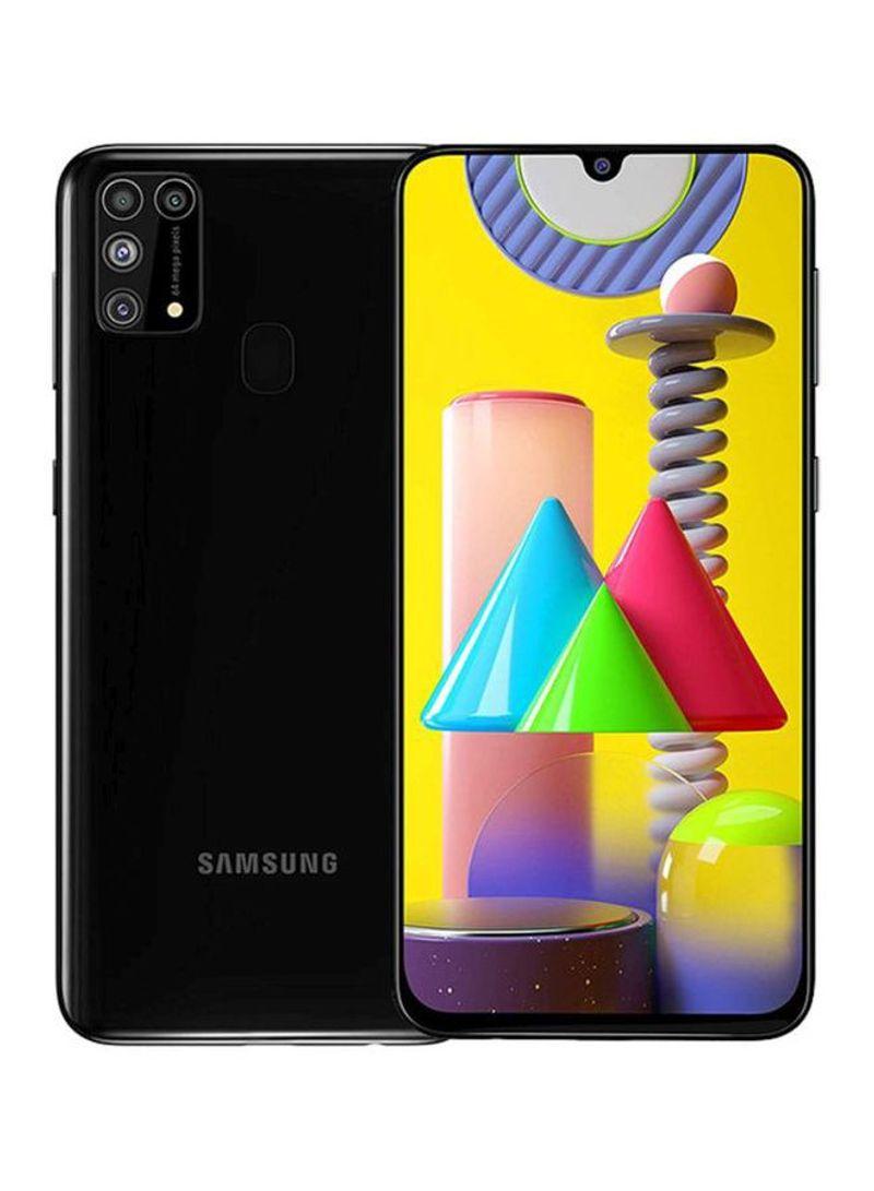 هاتف جالاكسي M31 بشريحتين وذاكرة رام 6 جيجابايت سعة 128جيجابايت وتقنية 4G LTE، لون أسود
