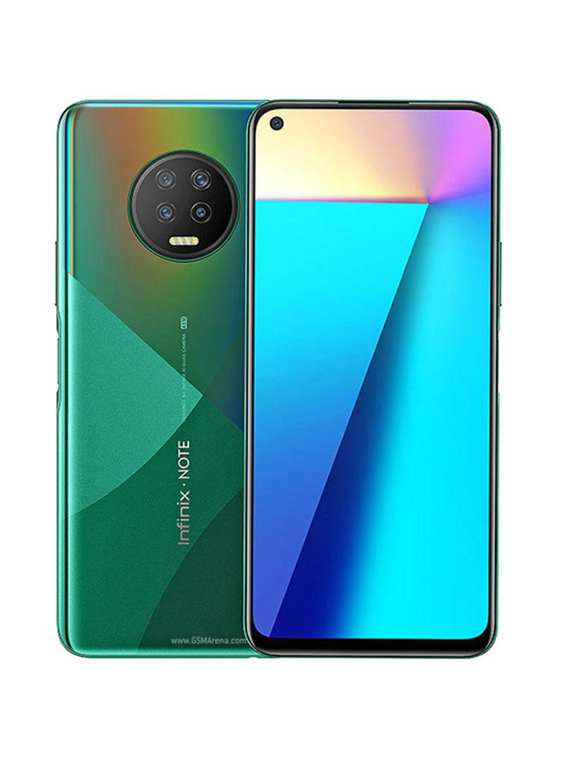 هاتف نوت 7 ثنائي الشريحة لون أخضر فوريست بذاكرة رام سعة 6 جيجابايت وذاكرة داخلية سعة 128 جيجابابت ويدعم تقنية 4G LTE
