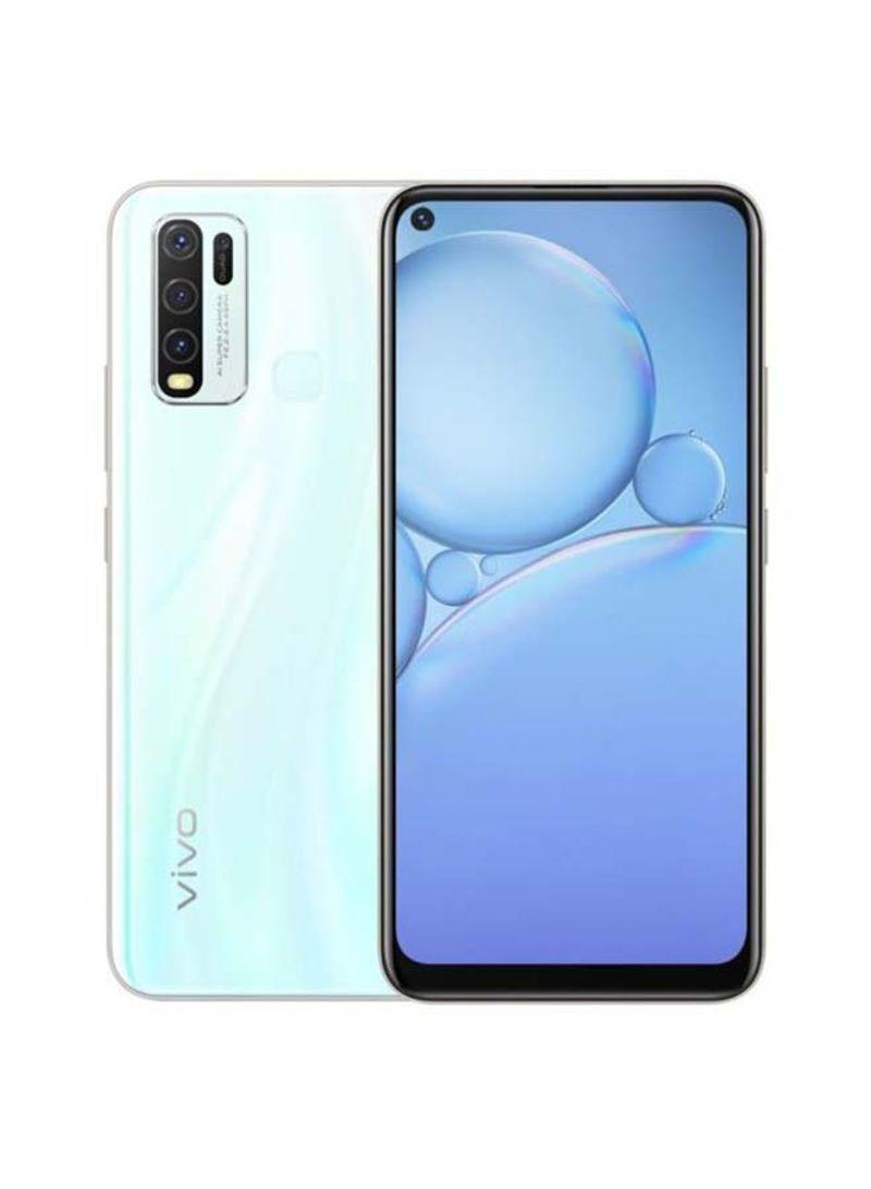 هاتف Y30 ثنائي الشريحة بذاكرة رام سعة 4 جيجابايت وذاكرة داخلية سعة 128 جيجابايت ويدعم تقنية 4G LTE، لون أبيض مون ستون