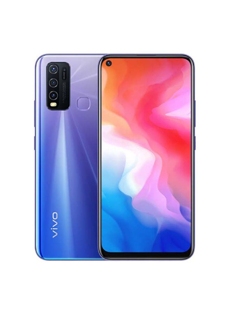 هاتف Y50 ثنائي الشريحة بذاكرة رام سعة 8 جيجابايت وذاكرة داخلية سعة 128 جيجابايت ويدعم تقنية 4G LTE، لون أزرق آيريس
