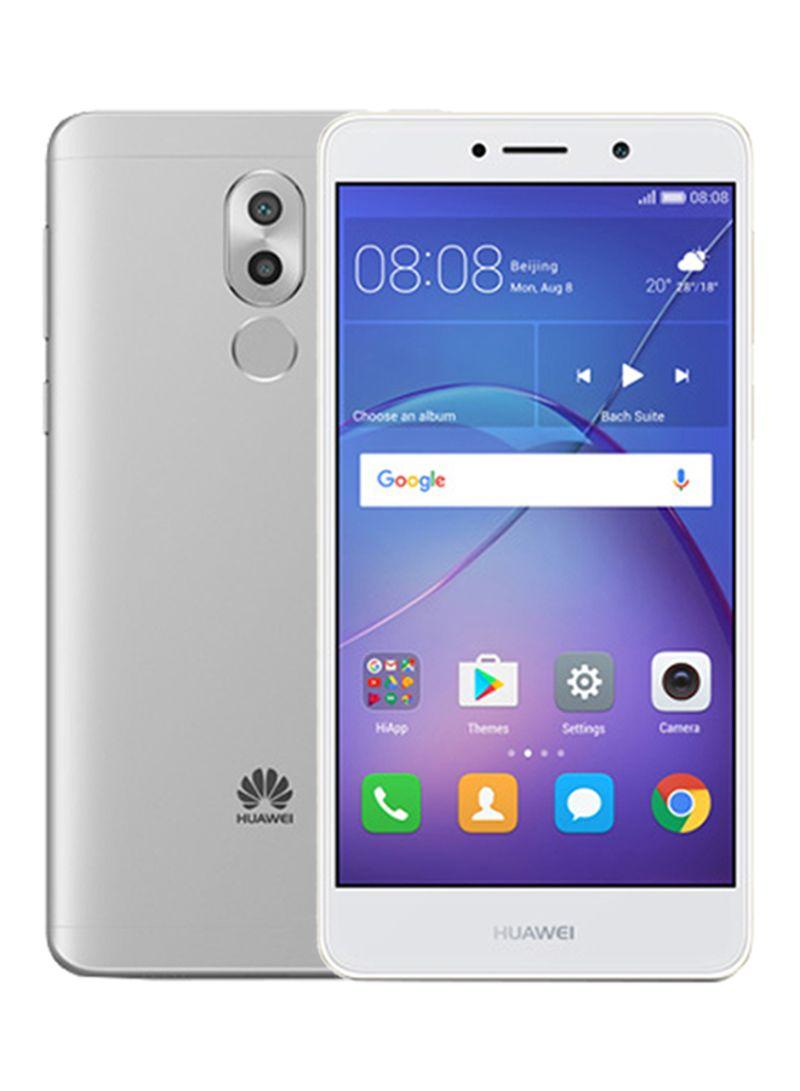 هاتف GR5 مزدوج الشريحة فضي اللون سعة 32 غيغا بايت ومزود بتقنية الجيل الرابع LTE