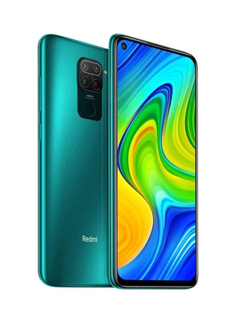 هاتف ريدمي نوت 9 بشريحتي اتصال، بذاكرة داخلية سعة 64 جيجابايت وذاكرة رام سعة 3 جيجابايت ويدعم تقنية 4G LTE، لون أخضر فوريست