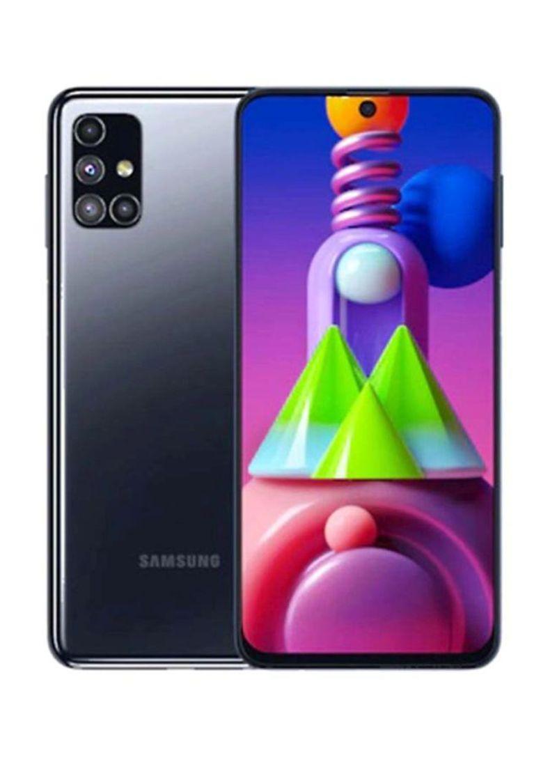 هاتف جالاكسي M51 بشريحتين وبلون أسود وذاكرة رام 8 جيجابايت وذاكرة داخلية سعة 128 جيجابايت ويدعم تقنية 4G LTE - النسخة العالمية