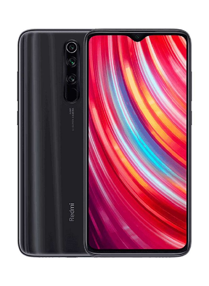 هاتف ريدمي نوت 8 برو ثنائي الشريحة لون رمادي معدني مع ذاكرة رام سعة 6 جيجابايت وذاكرة داخلية سعة 128 جيجابايت ويدعم تقنية 4G LTE