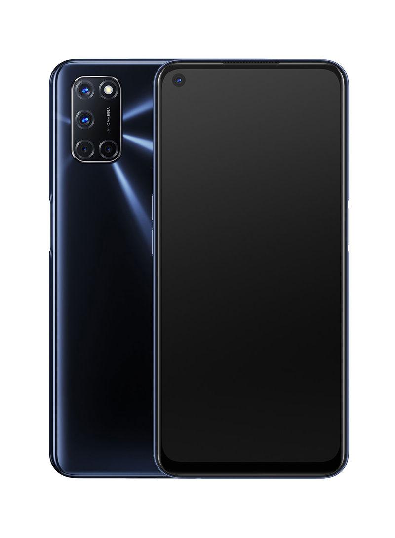 موبايل A52 ثنائي الشريحة وذاكرة رام 4 جيجابايت وسعة تخزين داخلية 128 جيجابايت ويدعم تقنية 4G LTE بلون أسود توايلايت