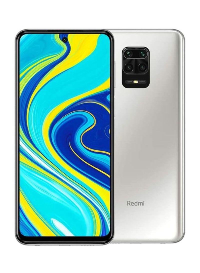 هاتف ريدمي نوت 9S ثنائي الشريحة لون أبيض جليشر مزود بذاكرة رام سعة 6 جيجابايت وذاكرة داخلية سعة 128 جيجابايت يدعم تقنية 4G LTE