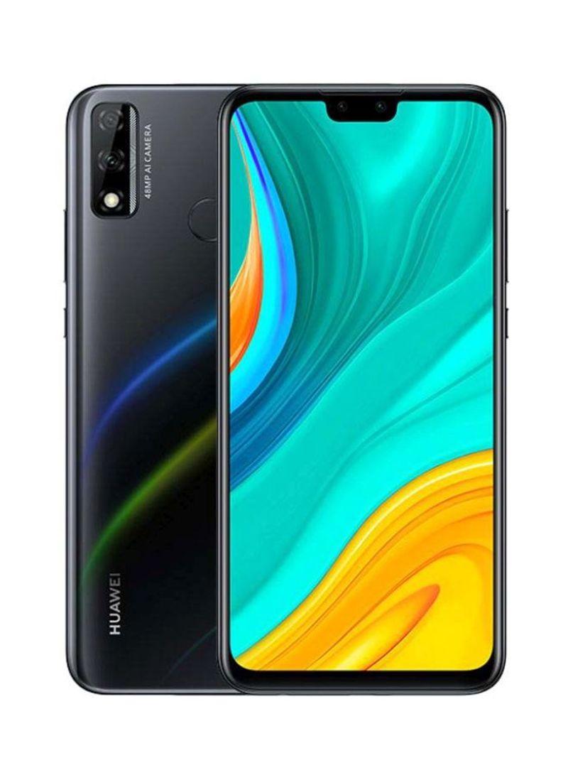 هاتف Y8S بشريحتين بلون أسود منتصف الليل وذاكرة رام 4 جيجابايت وذاكرة داخلية سعة 64 جيجابايت ويدعم تقنية 4G LTE