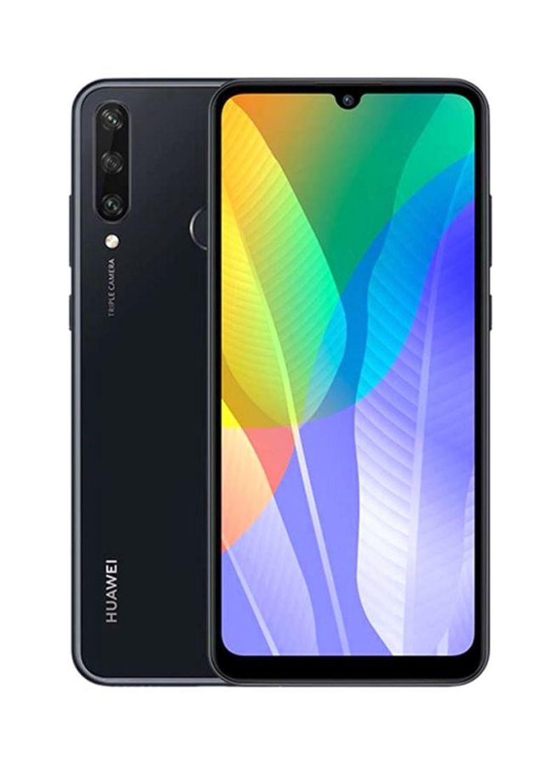 هاتف Y6P بشريحيتن بلون أسود منتصف الليل وذاكرة رام 3 جيجابايت وذاكرة داخلية سعة 64 جيجابايت ويدعم تقنية 4G LTE