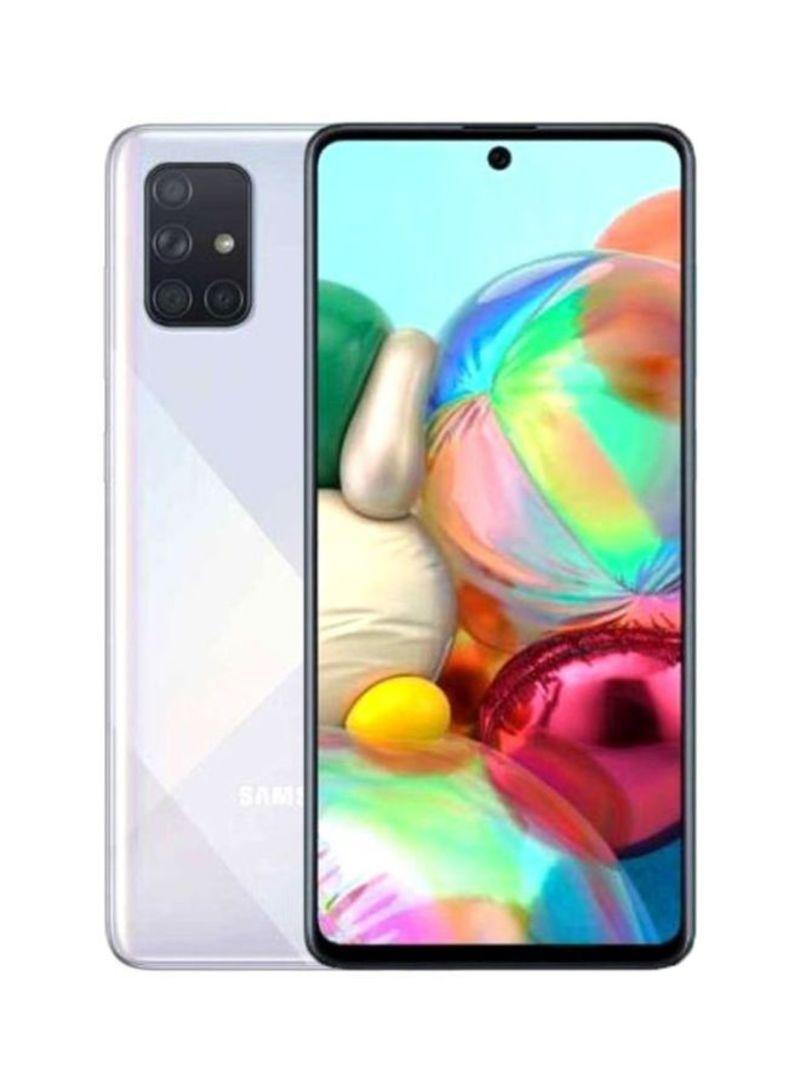 هاتف جالاكسي A71 بشريحة واحدة ولون بريزم كراش وذاكرة داخلية سعة 128 جيجابايت وذاكرة رام سعة 8 جيجابايت ويدعم تقنية 4G LTE