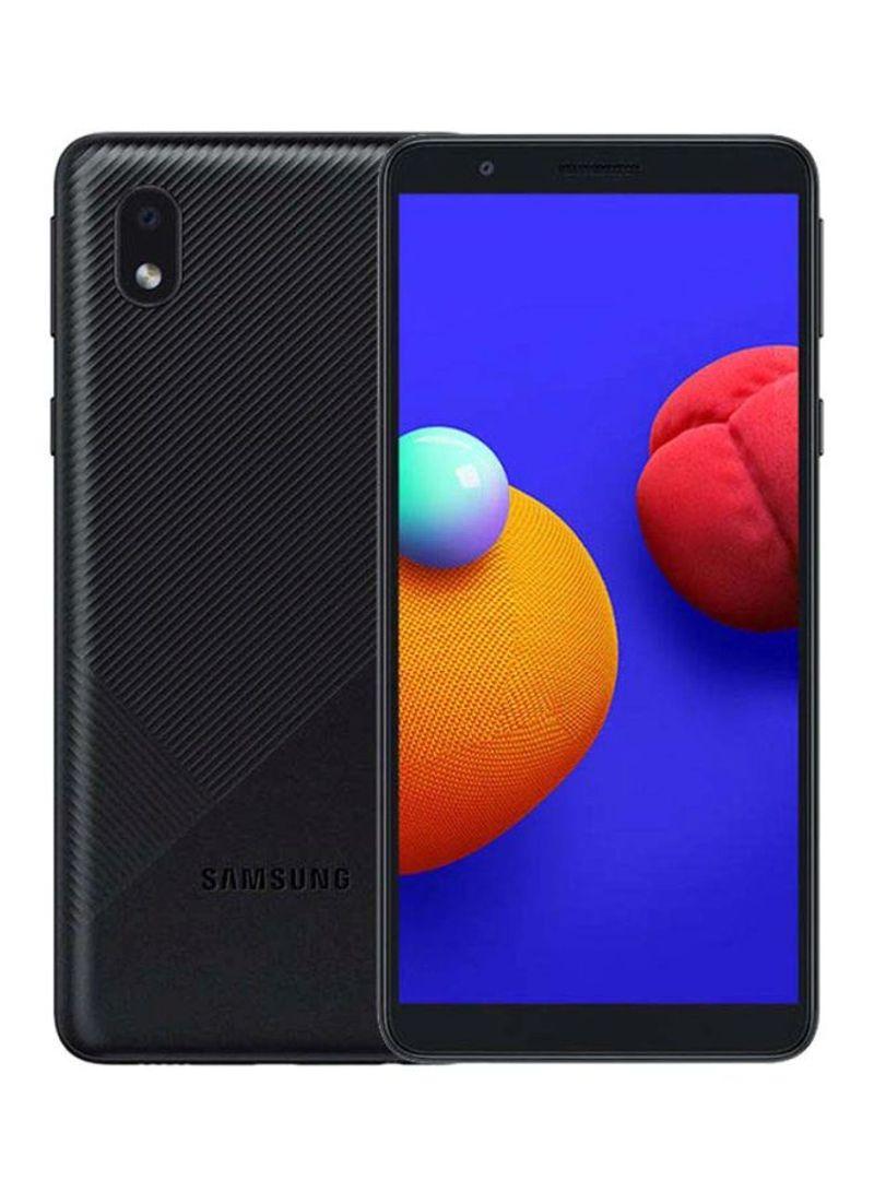 هاتف جالاكسي A01 كور بشريحتين وبلون أسود وذاكرة رام 1 جيجابايت وذاكرة داخلية سعة 16 جيجابايت ويدعم تقنية 4G LTE