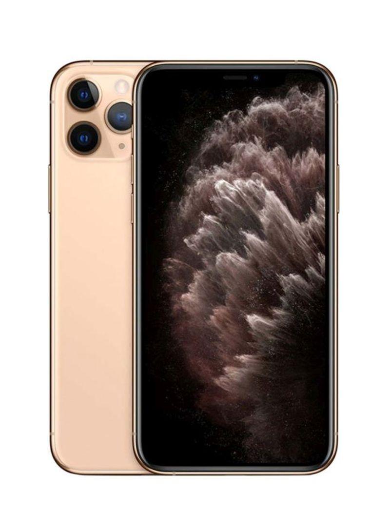 آيفون 11 برو ماكس بخاصية فيس تايم لون ذهبي سعة 64 جيجابايت يدعم تقنية 4G LTE - بالمواصفات المصرية