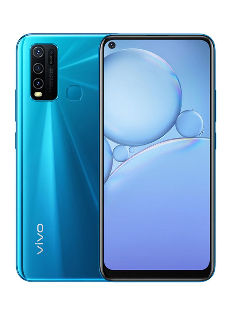 هاتف Y30 ثنائي الشريحة بذاكرة رام سعة 4 جيجابايت وذاكرة داخلية سعة 128 جيجابايت ويدعم تقنية 4G LTE، لون أزرق دازل