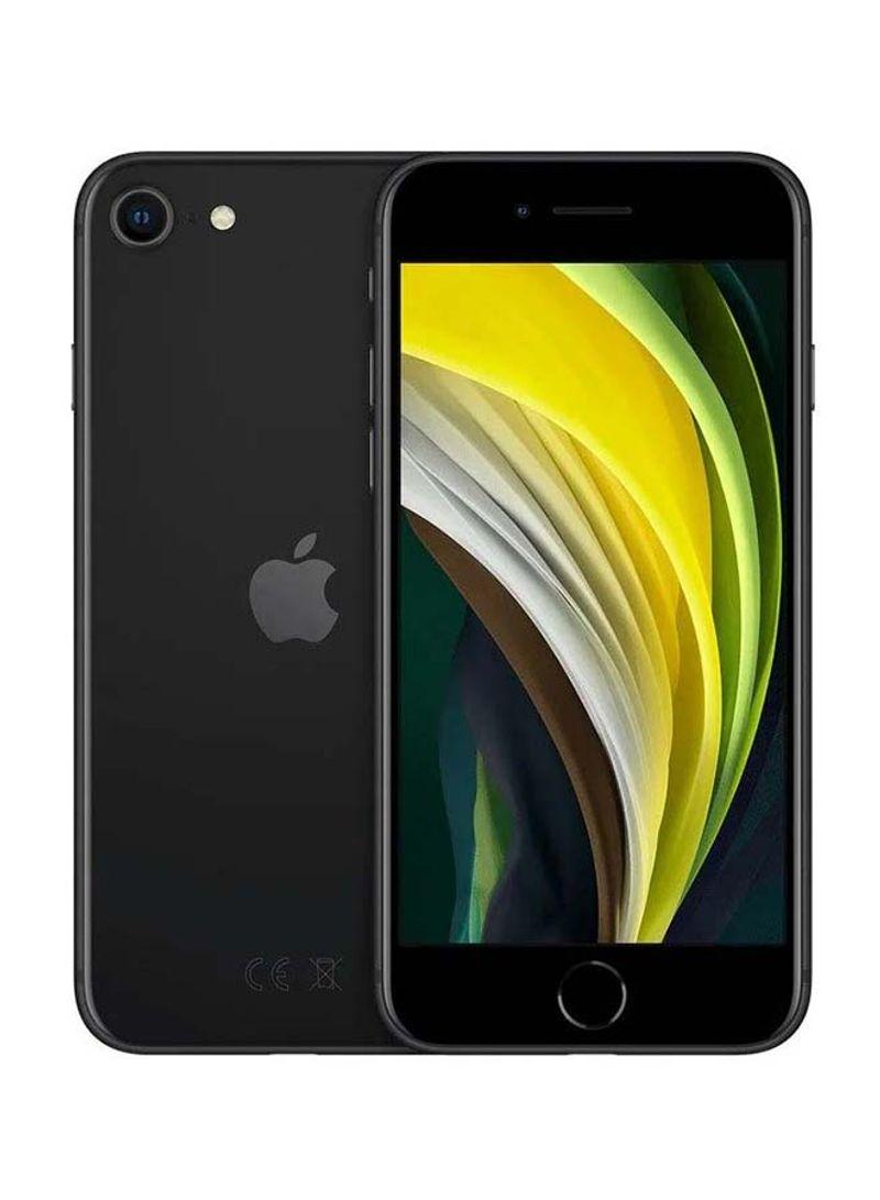 هاتف آيفون SE 2020 (الجيل الثاني) مع فيس تايم، لون أسود، بذاكرة رام 3 جيجابايت وذاكرة داخلية 64 جيجابايت ويدعم تقنية 4G LTE
