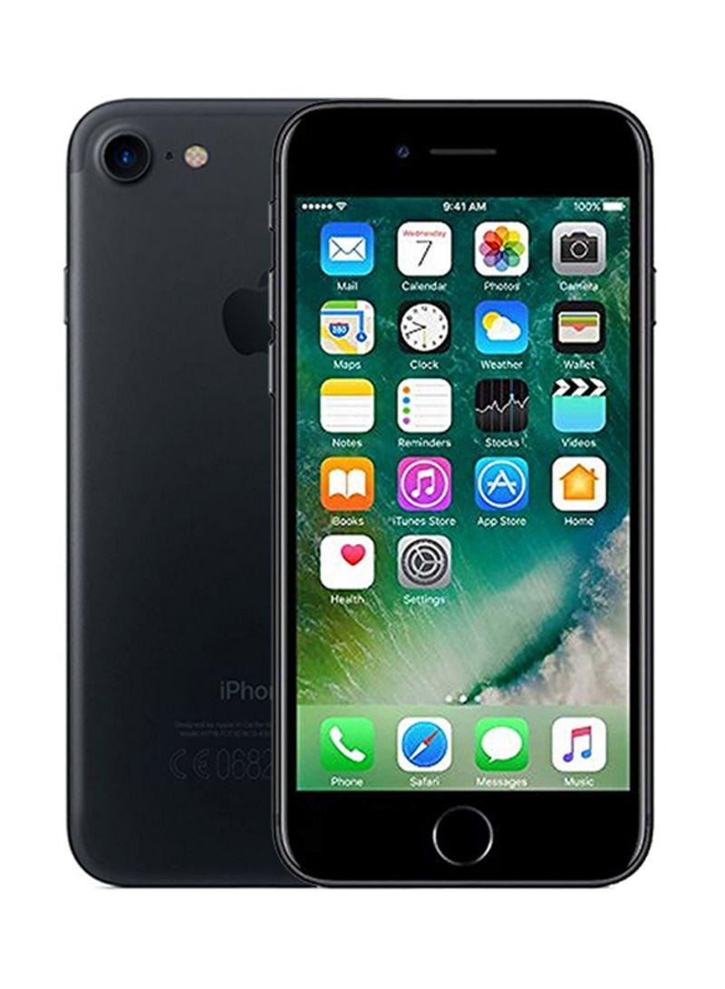 هاتف آيفون 7 لون أسود بذاكرة داخلية سعة 32 جيجابايت ومزود بتقنية 4G