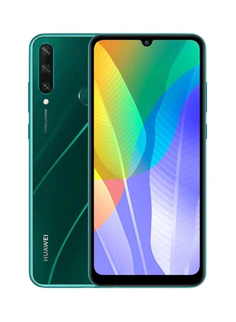 هاتف Y6P بشريحيتن بلون أخضر زمردي وذاكرة رام 3 جيجابايت وذاكرة داخلية سعة 64 جيجابايت ويدعم تقنية 4G LTE