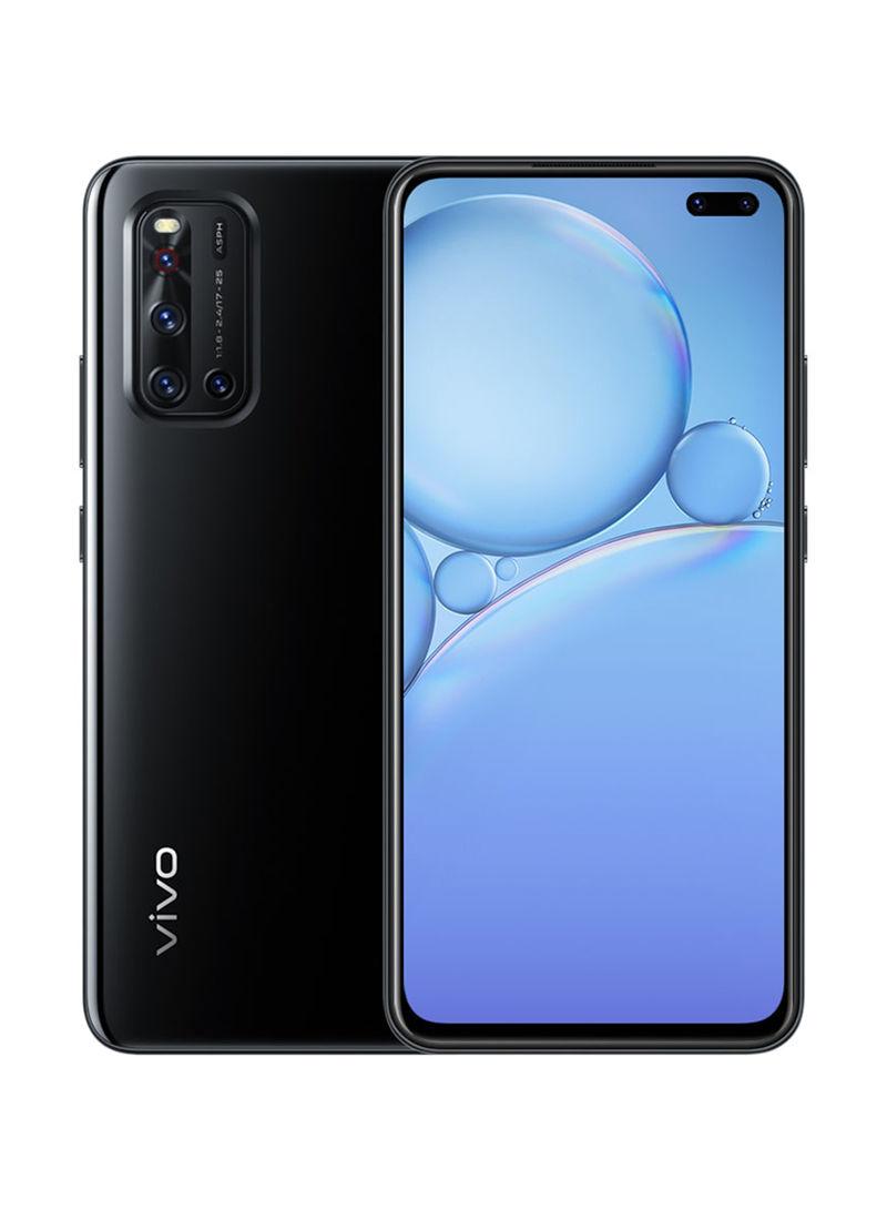 هاتف V19 ثنائي الشريحة بذاكرة رام سعة 8 جيجابايت وذاكرة داخلية سعة 128 جيجابايت يدعم تقنية 4G LTE، لون أسود جليم