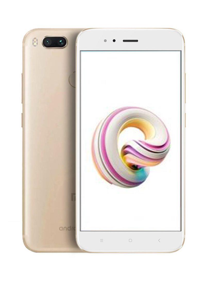 هاتف A1 ثنائي الشريحة لون ذهبي وذاكرة رام سعة 4 جيجابايت وذاكرة داخلية سعة 64 جيجابايت ويدعم تقنية 4G LTE