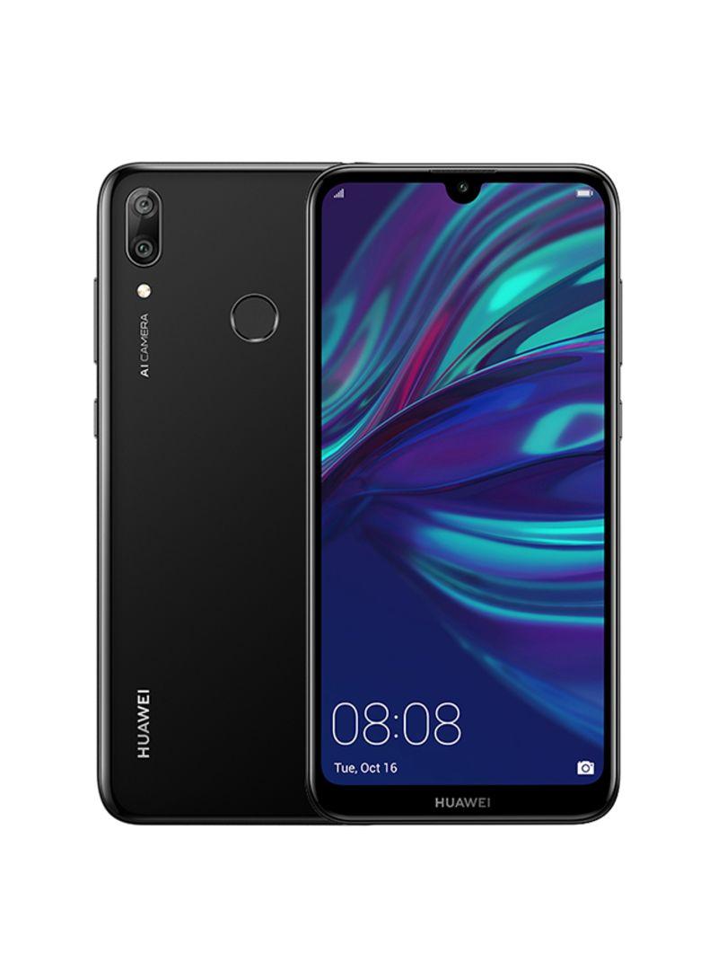 هاتف Y7 برايم 2019 ثنائي الشريحة بلون أسود وذاكرة وصول عشوائي سعة 3 جيجابايت وذاكرة داخلية سعة 64 جيجابايت ويدعم تقنية الجيل الرابع LTE