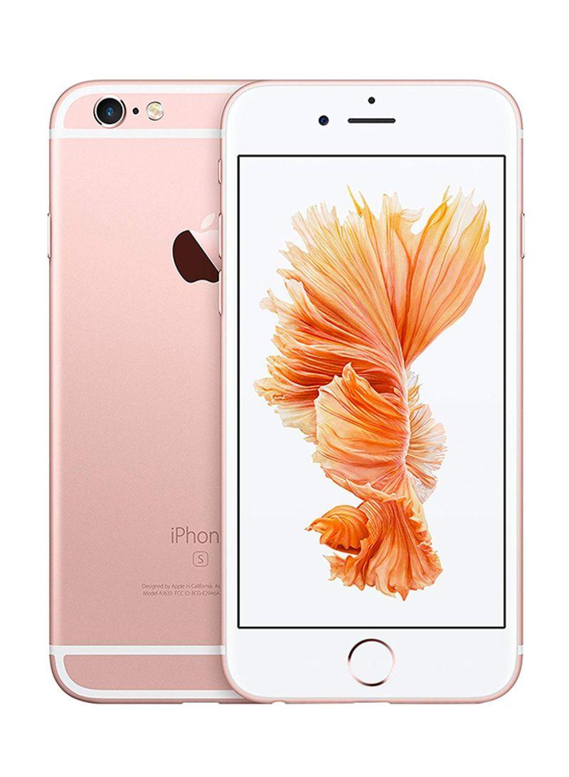 هاتف آيفون 6s بلس مع تطبيق فيس تايم لون ذهبي وردي وذاكرة داخلية سعة 32 غيغابايت ويدعم خاصية الجيل الرابع LTE