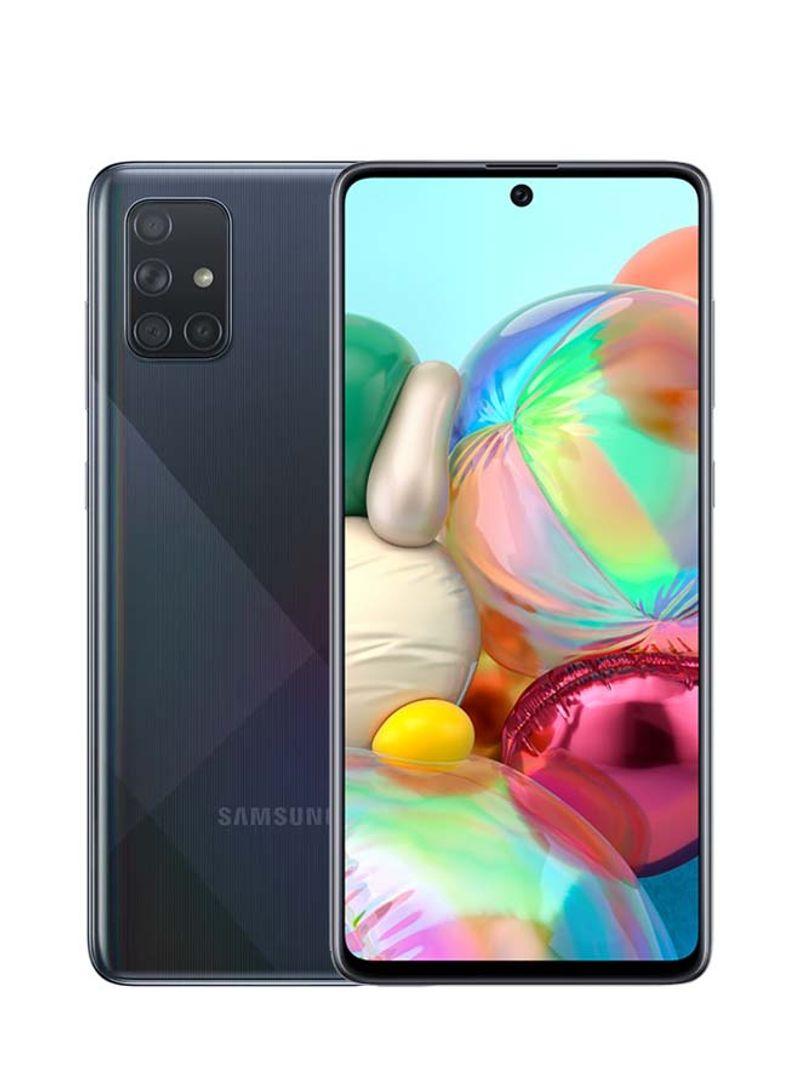 هاتف جالاكسي A71 ثنائي الشريحة بذاكرة رام سعة 8 جيجابايت وذاكرة داخلية سعة 128 جيجابايت بتقنية 4G LTE - بلون أسود