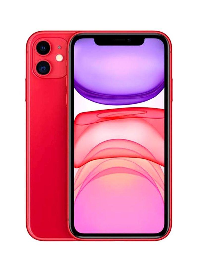 هاتف آيفون 11 (منتج) بلون أحمر، ذاكرة داخلية سعة 128 جيجابايت ويدعم تقنية 4G LTE - (2020 - تعبئة مدمجة) - المواصفات الدولية